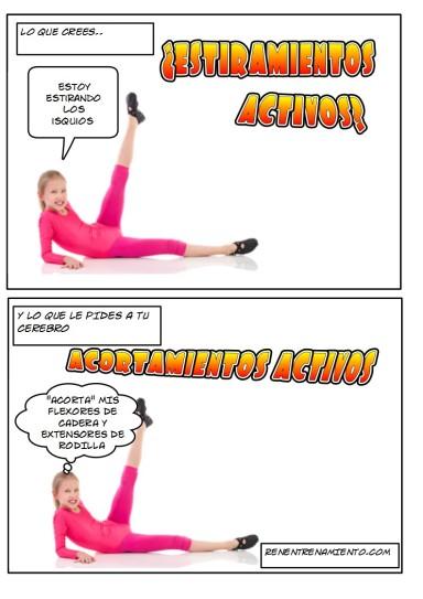 Estiramientos activos o acortamientos activos