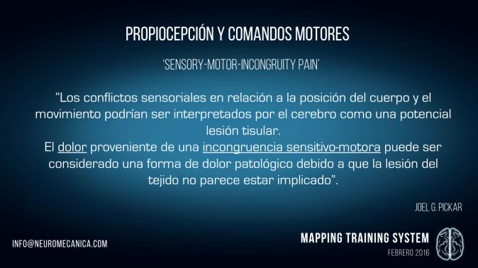 Mapping training propiocepción y comandos motores